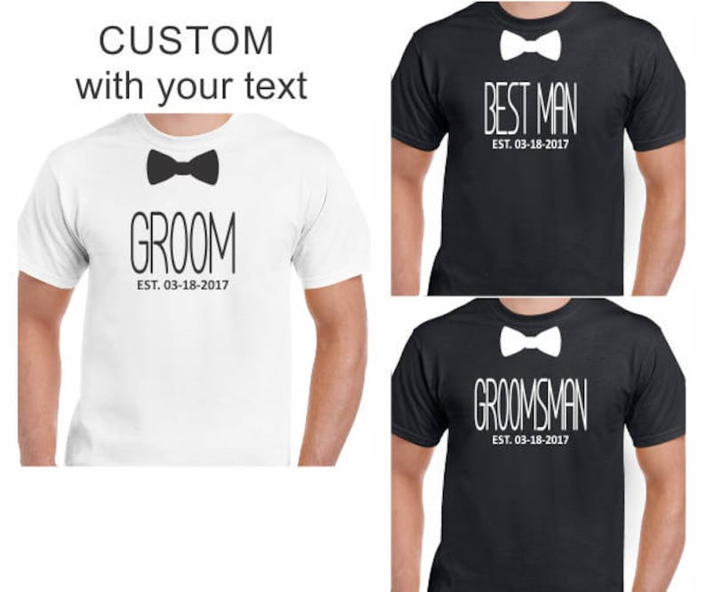 75ec3ef164124 Team Groom T-Shirts, Front Only Wedding Shirts, Personalized Customized  Best Man Groomsman Father Of The Groom Bride Bachelor Party Gifts