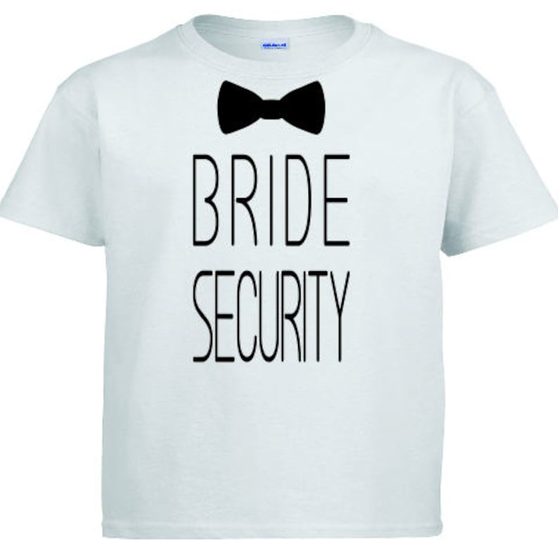 122ee02237cd8 Bride Security T-Shirt Ring Security Toddler Boys Children | Etsy
