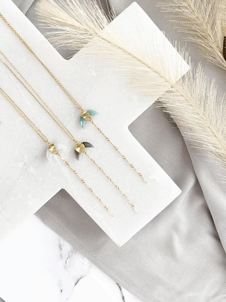 Crescent Stone Necklace