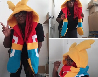ALL MIGHT Scoodie hat scarf hoodie from My Hero Acadamia
