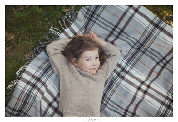 8b6d7b39c839 Hand Knit Baby Sweater   Children alpaca wool sweater