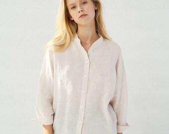 53b13f768beb7a Classic Linen Shirt Women