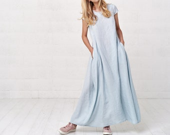 fa38ea5211 Women s Long Linen Kaftan Maxi Dress