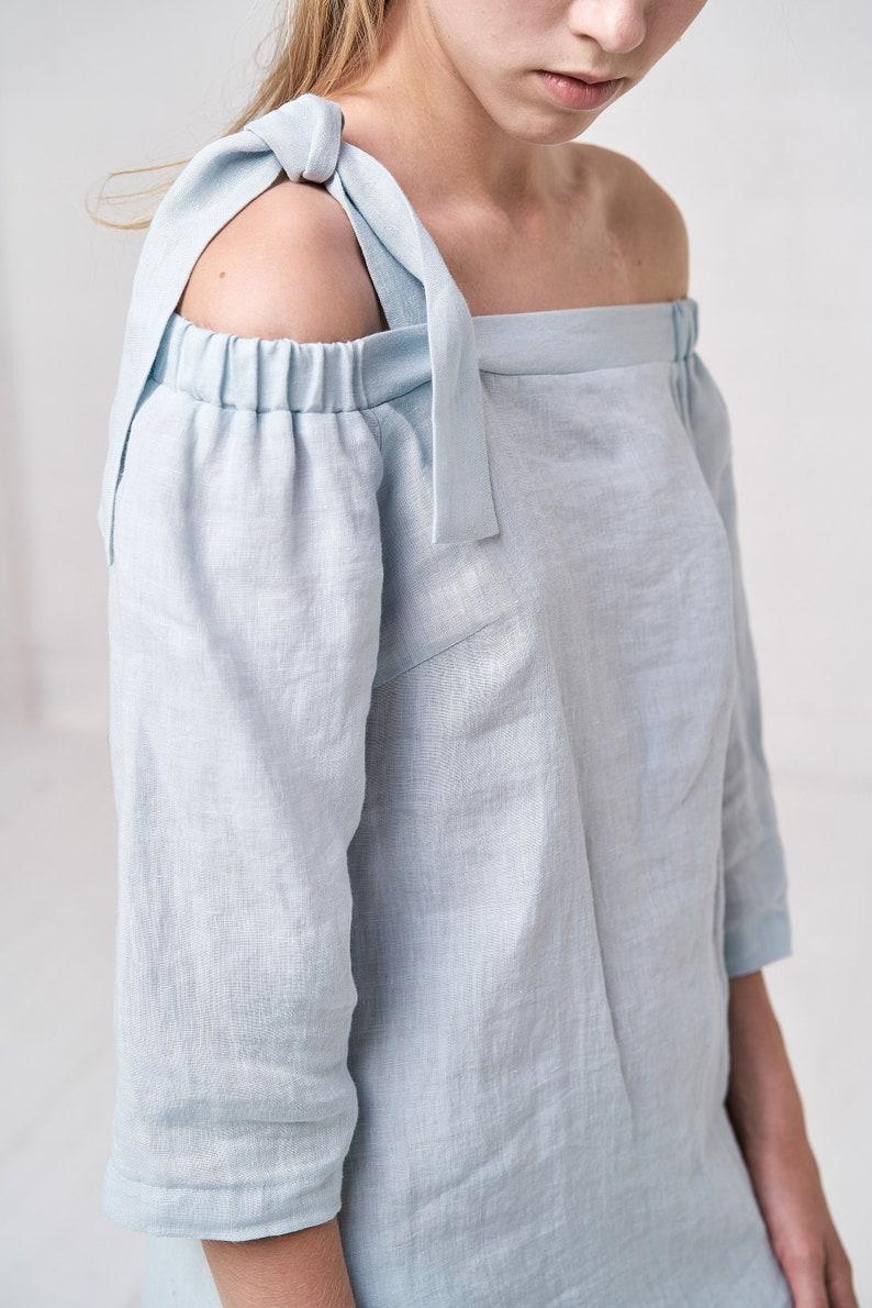 5567878607 Women s Airy Linen Long Kaftan Dress Off The Shoulder