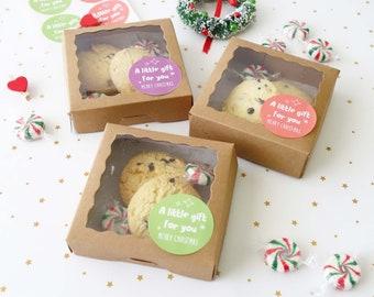 122436x christmas cookie boxes macaron box xmas chocolates truffle box sweets display box