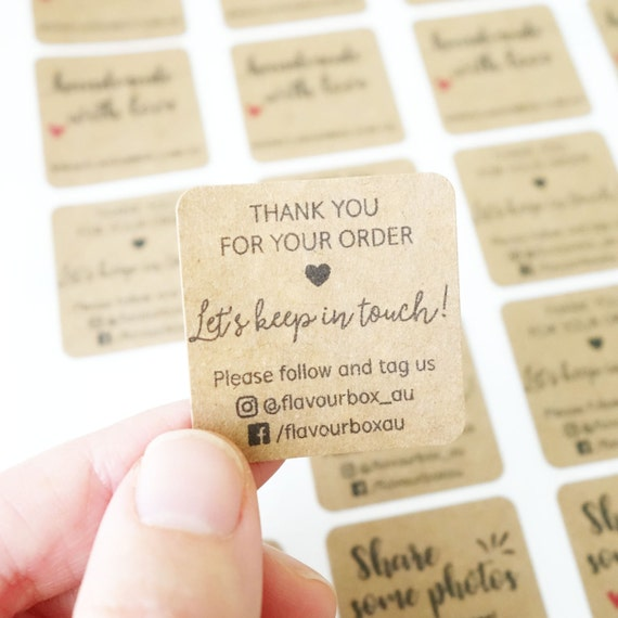 Business stickers small biz product labels etsy shop