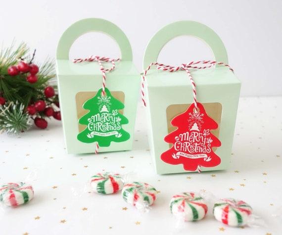 10 40x Christmas Gift Boxes Set Cupcake Boxes Xmas Cookie Etsy