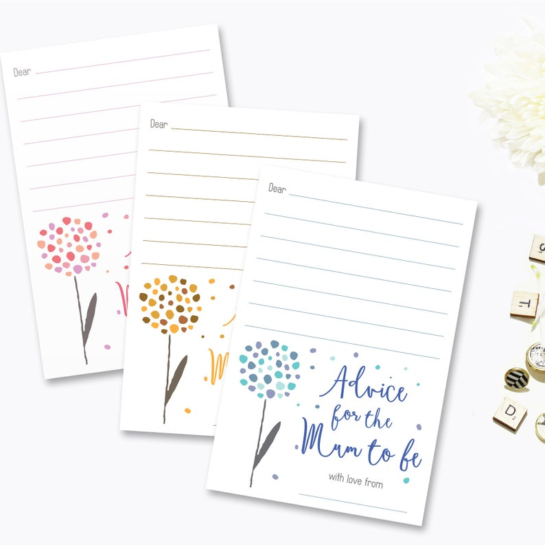 7c715770655 Advice Cards for Mum To Be Mom To Be Baby Shower Games