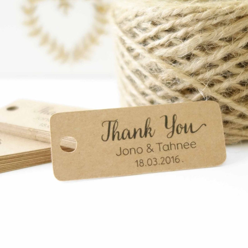 Mint to Be Favour Tags Gift Tags Wedding Set x50 Personalised