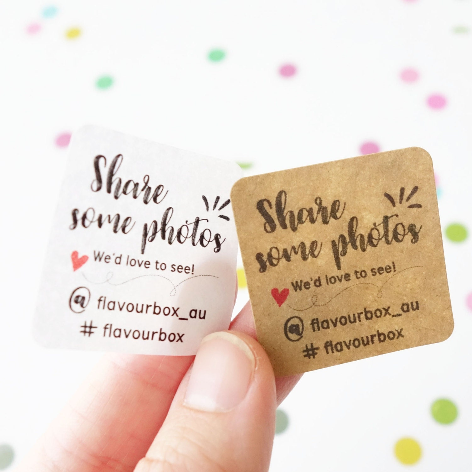 Instagram stickers custom business small biz labels product sticker etsy shop product packaging social media sticker