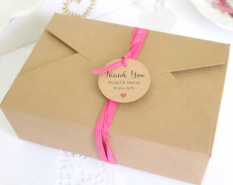 10x Kraft Boxes Large (18cm x 12cm x 6cm) - Gift Boxes - Rectangle - Wedding Cake Bomboniere Box - Macaron Box - Party Favor Box