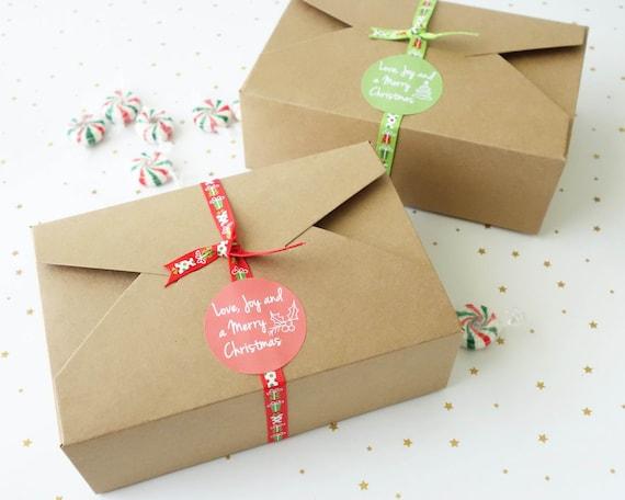 Christmas Boxes.Set Of 6 12 24 30 Christmas Large Gift Boxes Xmas Cookies Box Macarons Chocolate Lollies Candy Box Christmas Cake Box