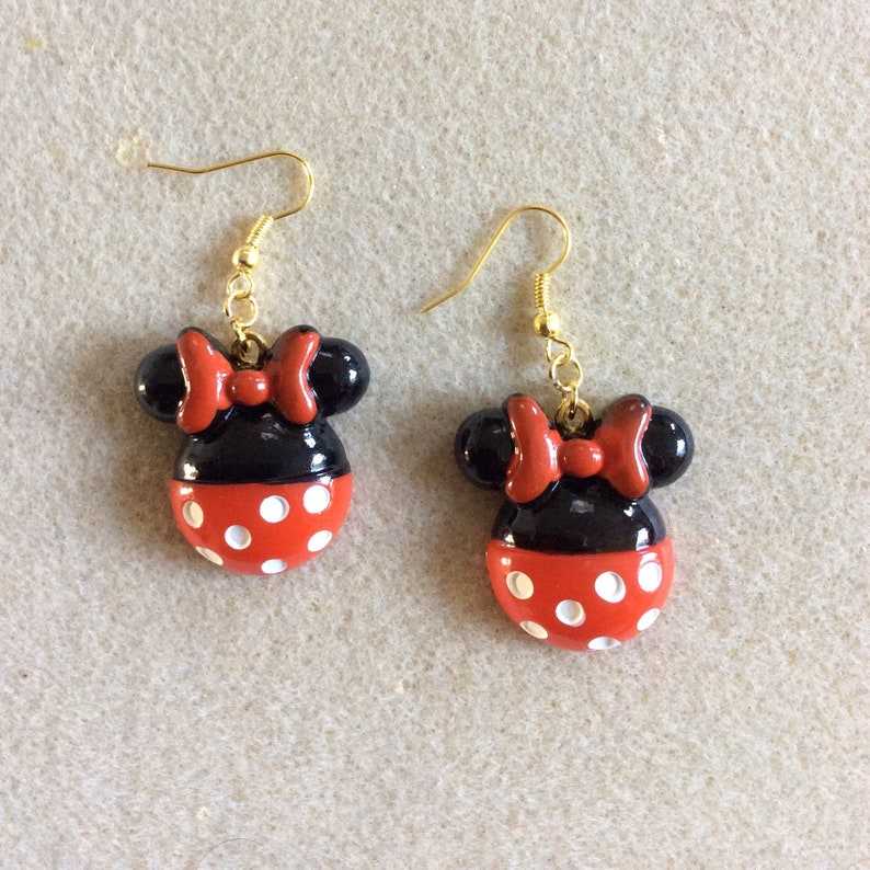 Minnie earrings gold-colored metal