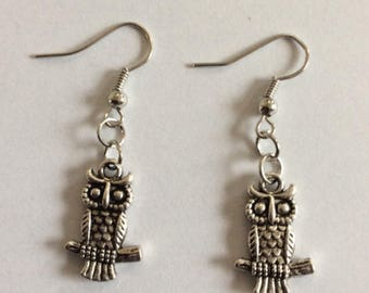 Owls earrings