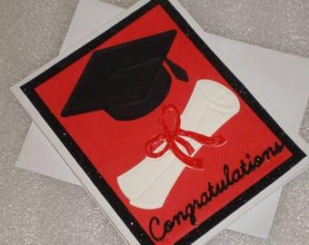 Graduation Card Congratulations Handmade Graduation School Greeting Card