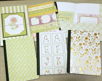 """Handmade B6 Traveler Notebook TN 5 1/4"""" x 7 1/4"""", journal, personal planner, gratitude journal"""