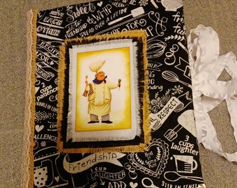 Handmade Cookbook Junk Journal, Recipe Junk JournalHandmade cookbook recipe junk journal Chunky junk journal