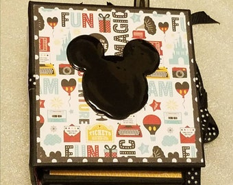 """Mini 4"""" x 4"""" Disney Mickey Mouse  Photo Scrapbook Memory Book Handmade for Instaprint and wallet photos"""