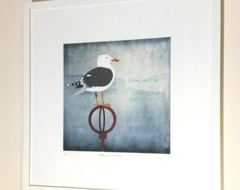 Herring Gull in Portobello print