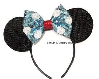 Classic Polka Dot Minnie Ears - Polka Dot Mickey Ears - Minnie Polka Dot  Mickey Ears - Sparkly Mickey Ears Headband -  Sparkle Mouse Ears