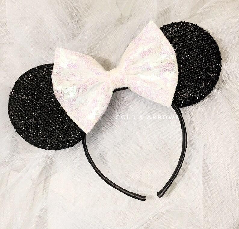 Bride Minnie Ears White Minnie Bridal Mouse Ears I Do Minnie  fe1b39cdef5