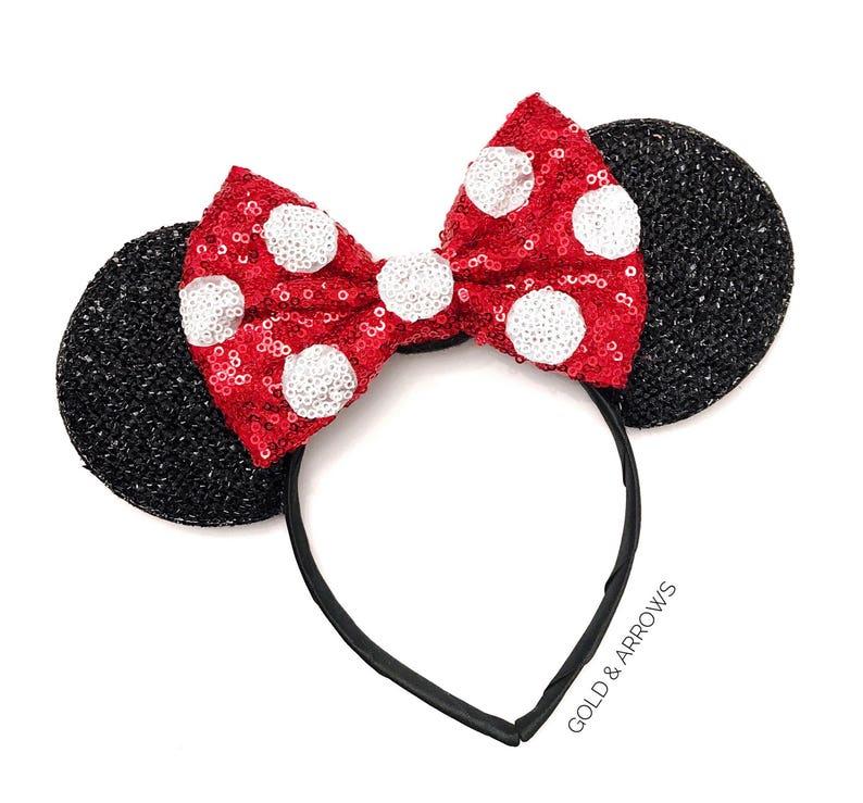 Polka Dot Minnie Ears  Polka Dot Mickey Ears  Minnie Polka image 0