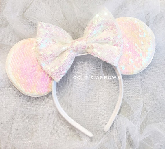Bridal Minnie Ears Bride Minnie EarsWhite Disney Bride  d700c8b8650