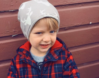 Baby kid slouchy beanie lined with organic fleece