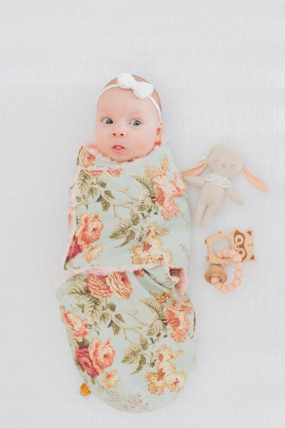 baby snuggler grey star wrap blanket newborn baby cotton minky fabric