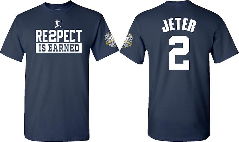 278dc88a0eb Derek Jeter RE2PECT T-SHIRTS YANKEE T-SHIRTS Jeter | Etsy