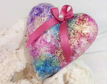 Small gift ideas for women,  gift under  10, Rainbow heart, cheap gifts, rainbow wall hanging, rainbow gifts, small gifts, inexpensive gifts