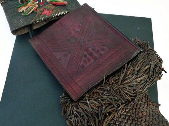 Cuir Touareg Sac Authentique En Tribal Ancien Vintage WeYEDI2H9
