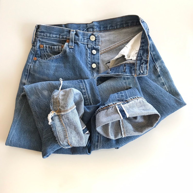 Levi's Selvedge 501 Blues Jeans 80s Button Fly 27 x 32
