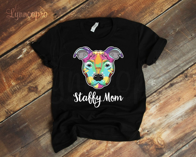 0e54bc5d9 Staffy Mom Shirt Amstaff Staffy T-Shirt American | Etsy