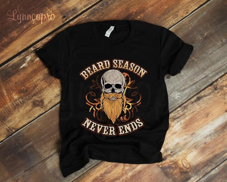 ea959fc5 Beard Season T-Shirt Bearded Skull Shirt Vintage Beard Shirt | Etsy
