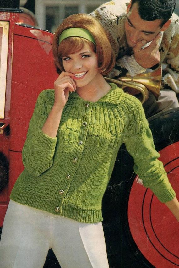 1960s Spinnerin Vintage Knitting Patterns Book Ladies Coat Etsy