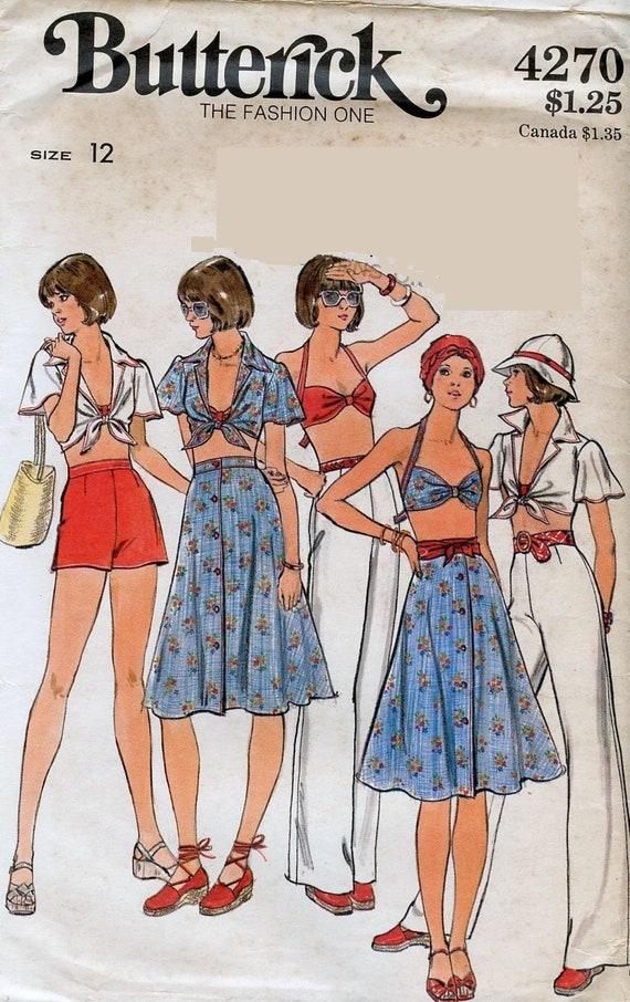 Easy Handkerchief Hem Halter Sun Dress McCalls 6113 Sewing Pattern 12 14 16 18