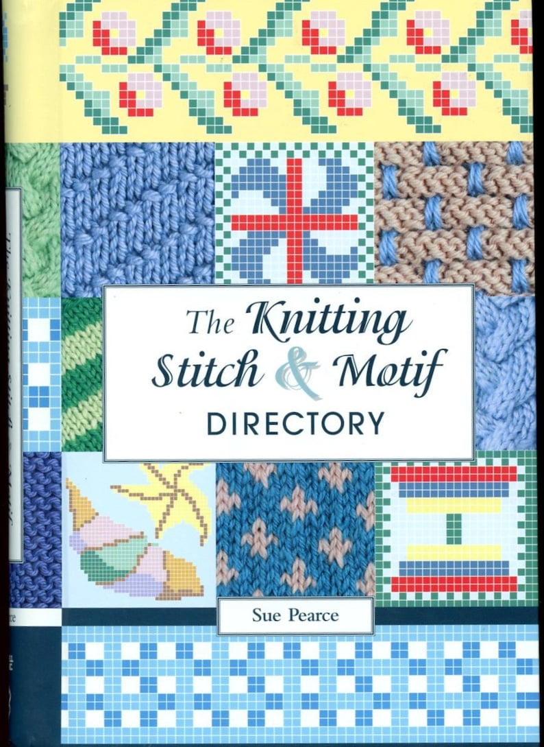 The Knitting Stitch Motif Directory By Sue Pearce Spiral Etsy