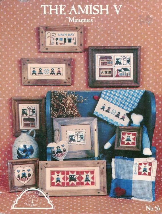 The Amish V Miniatures Homespun Elegance Counted Cross Stitch No 56