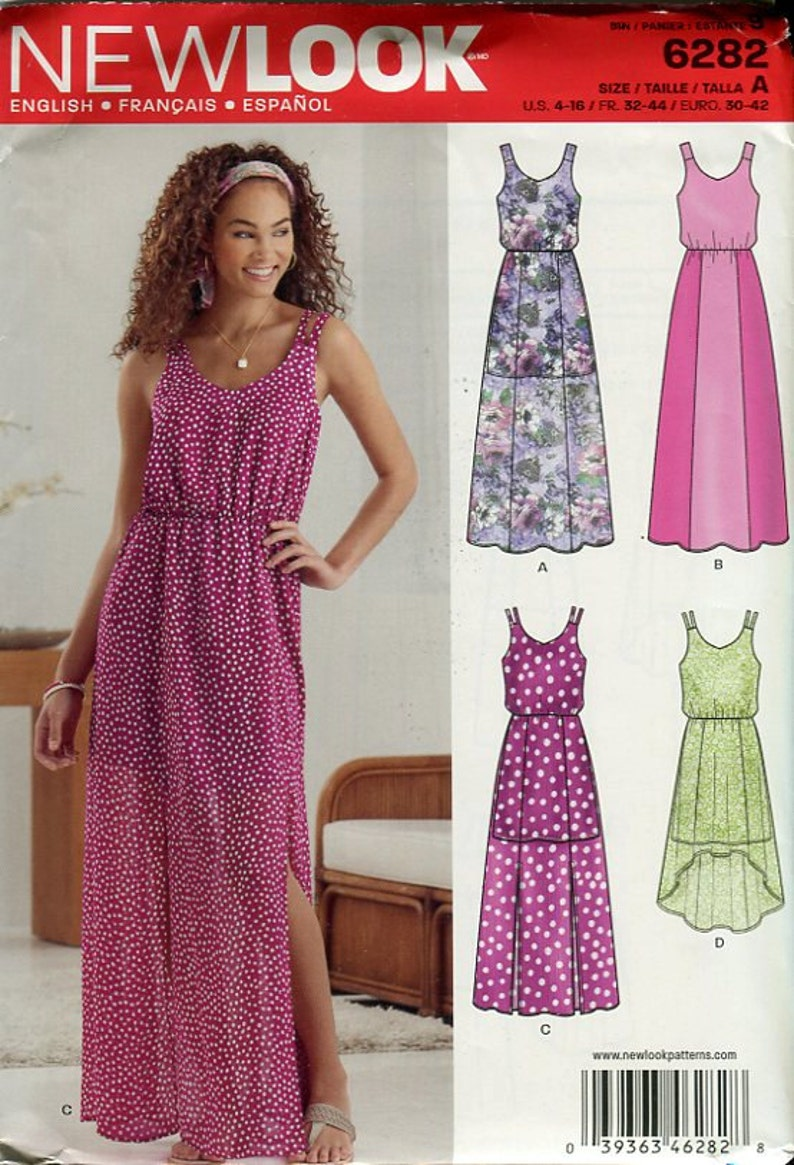 f7d1b27b80 Misses Summer Dress Pattern New Look 6282 Thick or Thin Straps