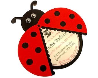Ladybug invite Etsy