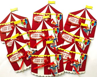 Circus Invitation Carnival Birthday Invitations Party Under The Big Top Theme