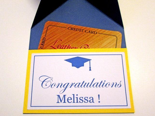 Graduación los titulares de tarjetas regalo del dinero dinero   Etsy