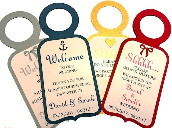 wedding door hangers do not disturb signs wedding welcome etsy