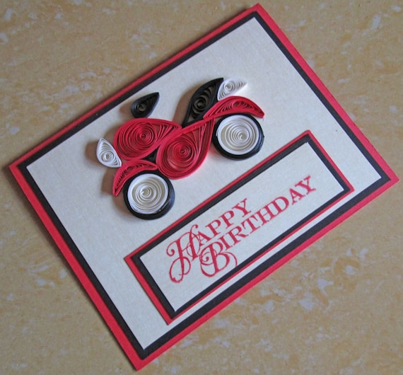 Paper Quilling Happy Birthday Card Quilled Etsy