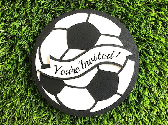 Soccer Invitations Soccer Birthday Invitations Soccer Party Etsy
