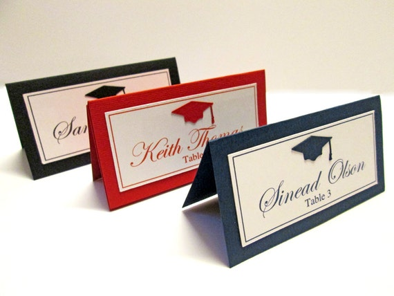 Graduation Place Cards Etsy