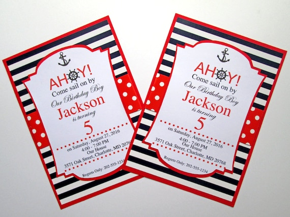 Nautical Birthday Invitation Invitations