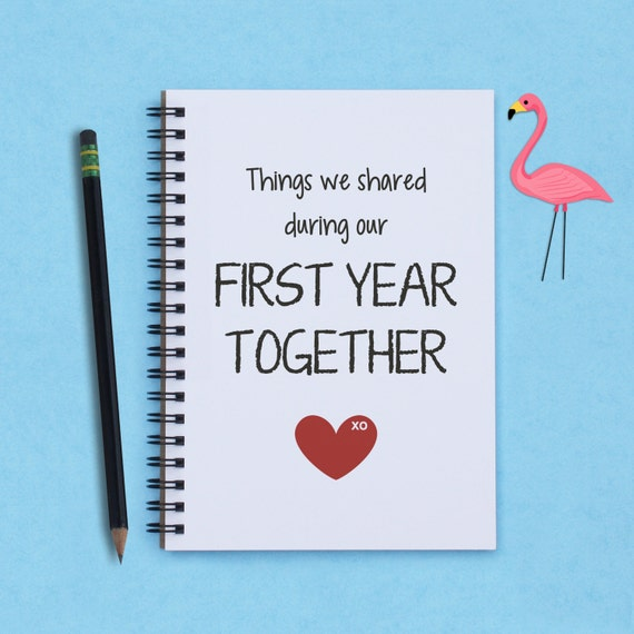 first year together first anniversary things we shared etsy