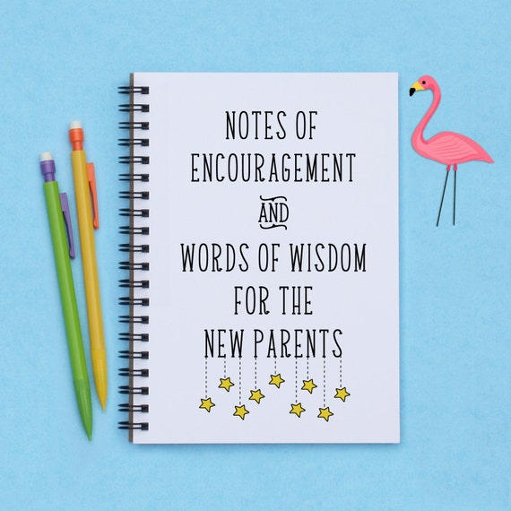 Baby Shower Gift Notes Of Encouragement And Words Of Wisdom Etsy